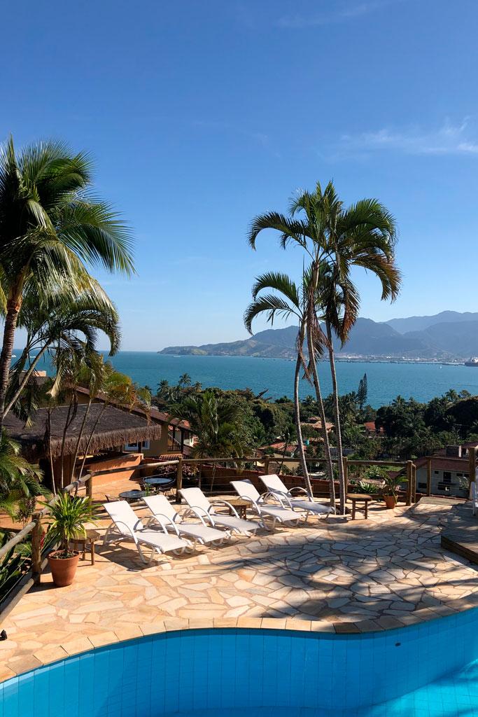 Bar da Piscina - Espaço para Eventos em Ilhabela - Pousada Altamira - Férias em Ilhabela