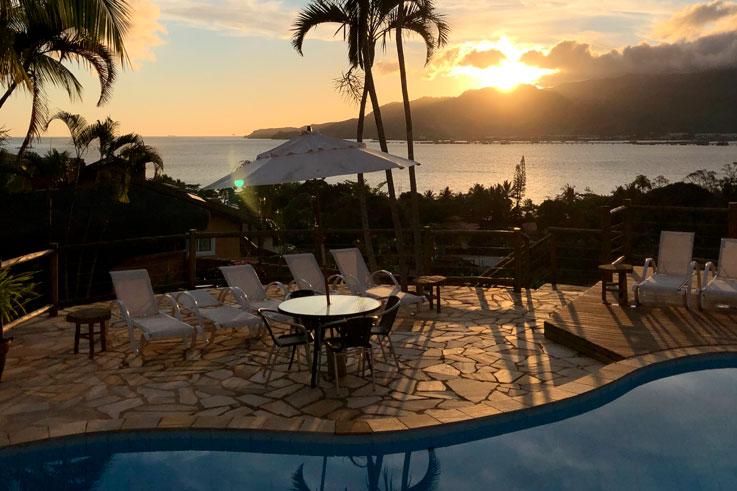 Localização Pousada Altamira Ilhabela - Pôr do Sol