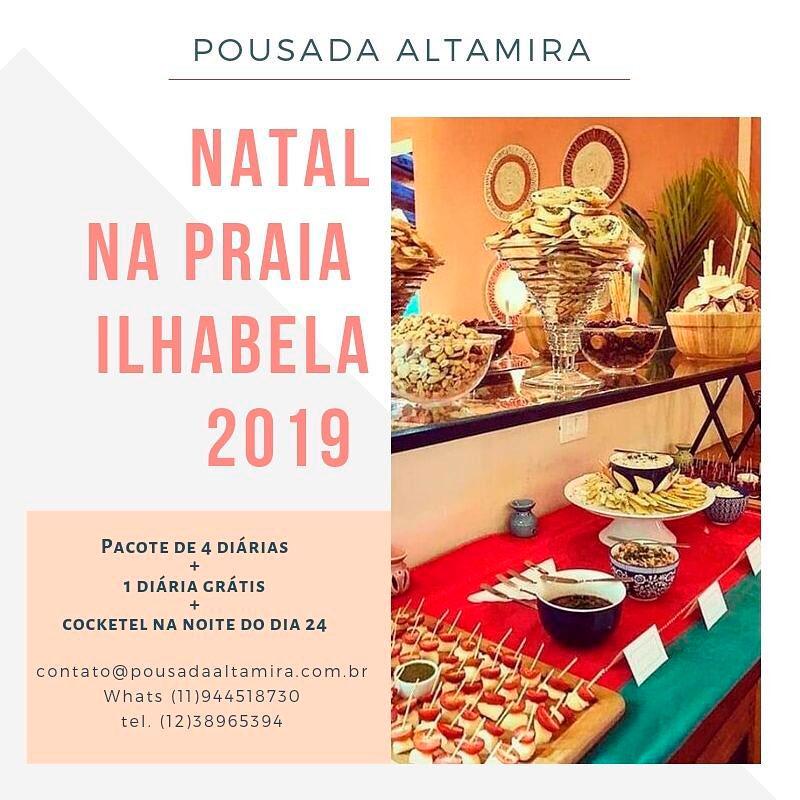 Natal na Praia em Ilhabela - Pousada Altamira - Promoção Pacote Natal