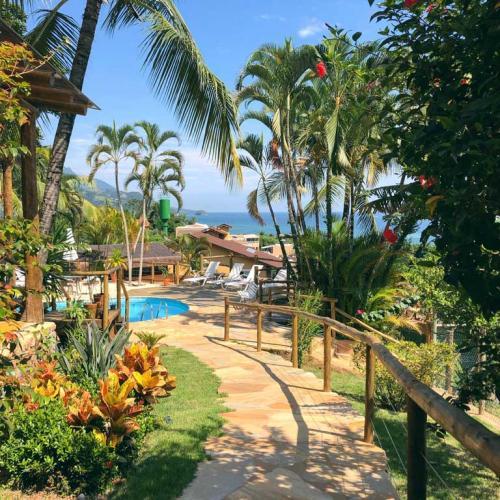 Jardim - Pousada Altamira Ilhabela